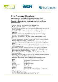Heta fakta om fjärrvärme