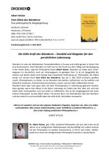 """Presseinformation Albert Kitzler """"Vom Glück des Wanderns"""""""