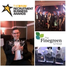 Finegreen win 3 awards at the Recruitment Business Awards 2017!
