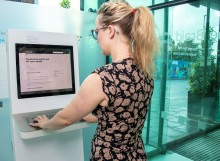 Electoral registration kiosk installed at the Braid