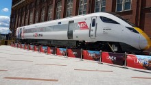 Azuma arrives at Newcastle museum ahead of Great Exhibition of the North