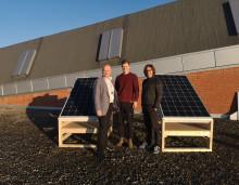 Forskning på solcellepanel på Teknisk museum