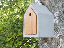 Attraktiv fuglekasse i betong – Inspirert