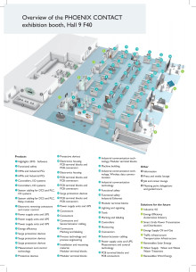 Oversiktskart for Phoenix Contact stand - F40, Hall 9