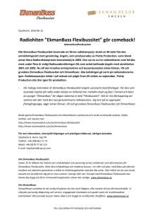 "Radiohiten ""EkmanBuss Flexibussitet"" gör comeback!"