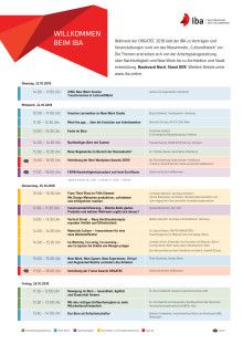 Programm IBA-Bühne ORGATEC 2018