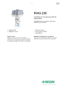 Produktblad för RVA5-230