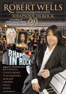 """Vårpremiär! Nu drar Robert Wells igång succéapparaten """"Rhapsody In Rock"""" – jubileet besöker 14 orter våren 2015"""