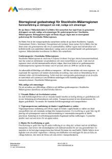Storregional godsstrategi - Sammanfattande informationsblad