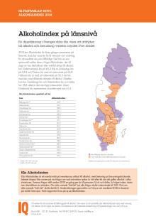 Faktablad Alkoholindex på länsnivå