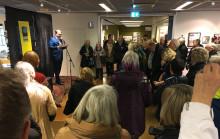 Vinterspår: Stefan Jansson invigde Försmak-utställningen