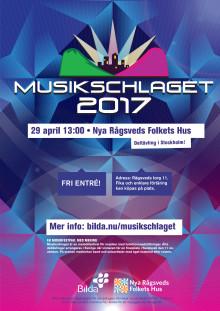 Affisch Musikschlaget deltävling Stockholm 29 april