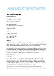 Pressmaterial till Dylansällskapet