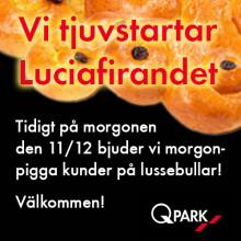 Stockholm: Q-Park smygstartar Luciafirandet den 11/12