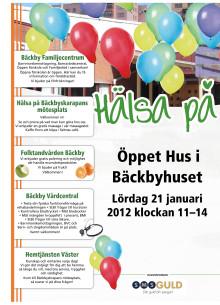 Program för Öppet Hus i Bäckbyhuset den 21 januari 2012
