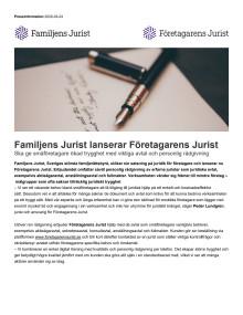 Familjens Jurist lanserar Företagarens Jurist