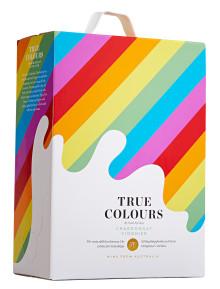 True Colours följer upp cavasuccén - Nu lanseras ett vitt vin på box med samma viktiga budskap.
