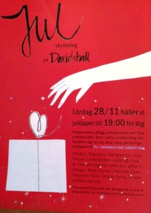 Julskyltning på Davidshall  - lördagen den 28/11