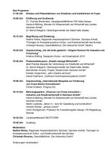 Programm zur Impulskonferenz