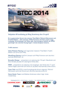 Inbjudan mediadag STCC Ring Knutstorp 24 april