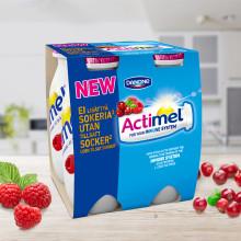 Ny smak i Actimel-familjen utan tillsatt socker