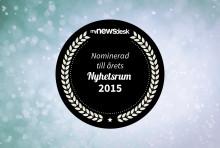 Swecon nominerat i prestigefull kategori i Årets Nyhetsrum 2015