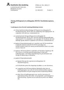 Yttrande över RUFS 2010 (MP, V)
