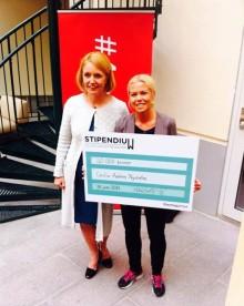 Cecilia Andrén Nyström, grundare Futebol dá força, korad 'årets unga entreprenör'