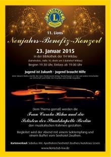 Kultureller Jahresauftakt in der Hochschulbibliothek am 23. Januar 2015 mit dem 11. Neujahrs-Benefizkonzert des Lions Clubs Königs Wusterhausen