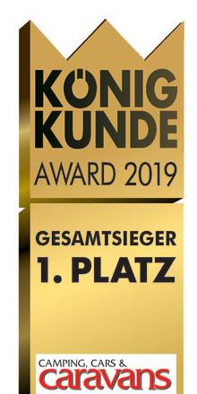 König Kunde Award 2019 - Fendt-Caravan wieder ganz oben – 4x die Nr. 1