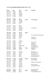V75-schema för 2017 samt sommaronsdagar för V86 2017