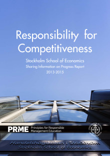Responsibility for Competitiveness - SSEs Sharing Information on Progress Report to PRME