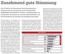 """""""Zunehmend gute Stimmung"""" - Redaktioneller Beitrag von Homburg & Partner im """"baustoffmarkt""""  veröffentlicht"""