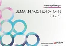 Bemanningsindikatorn Q1 2013 - Upp för bemanningsbranschen i norra Sverige, i övrigt ovisst