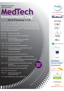 Program Medtech Investment Day, 11 febr 2010