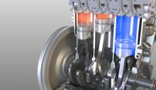Her er verdens første tre-sylindrede motor med sylinderkutt