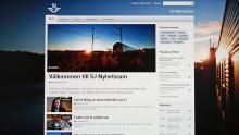 SJ lanserar responsivt nyhetsrum