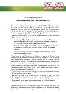 """Alle Teilnahmebedingungen zum """"tierisch engagiert""""-Award 2018"""