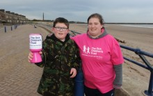 Mum Braves Freezing Sea To Raise Cash for Charity