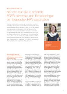 Specialistläkare Linda Marklund: Pilotstudie med HPV-vaccin mot huvud-halscancer