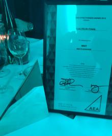 NNIT wins AEA Award 2015