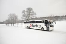 Swebus: Extra julavgångar Stockholm - Norrköping - Kalmar