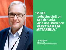 """Lujatalo Oy – Eteran Työkykypalkintofinalisti 2016: """"Työhyvinvoinnin pitää olla osa arkea"""""""
