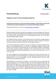Ergebnisse der Tourismusakzeptanz Studie Kiel