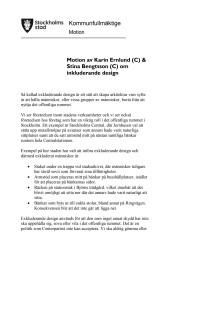 Centerpartiets motion om inkluderande design
