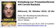 CAROLA RACKETE: Einladung zur Pressekonferenz