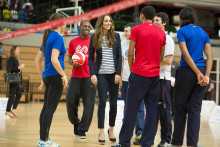 Duchess of Cambridge meets SportsAid athletes at Grand Depart