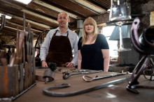 Brain injury survivor shows his metal to forge successful blacksmith business