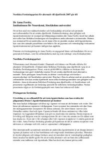 Anna Forsby, mottagare av Nordiska Forskningspriset för alternativ till djurförsök 2007