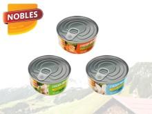 Hälsa och enkelhet i konservburk - Nobles kycklingfilé finns nu i svensk dagligvaruhandel
